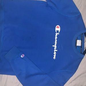 Navy Blue champion sweatshirt